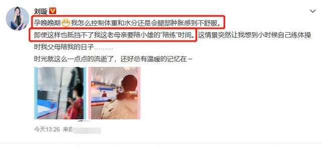 《【摩臣平台网站】刘璇孕晚期身体肿胀不适 还坚持陪儿子练滑冰》