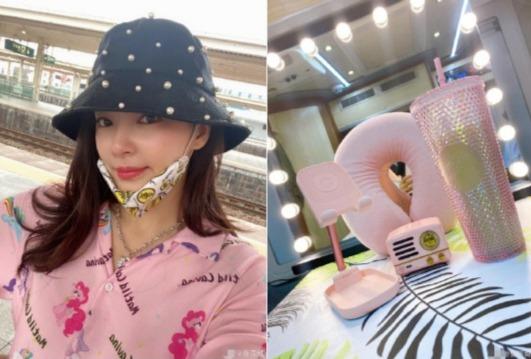 《【摩臣平台网站】张雨绮粉嫩装扮车站自拍 透露备战《姐姐》决赛》