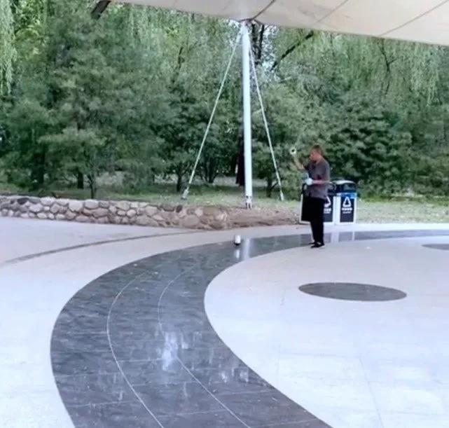 《【摩臣代理平台】章泽天公园健身抽陀螺 路人吆喝叫好似江湖卖艺》